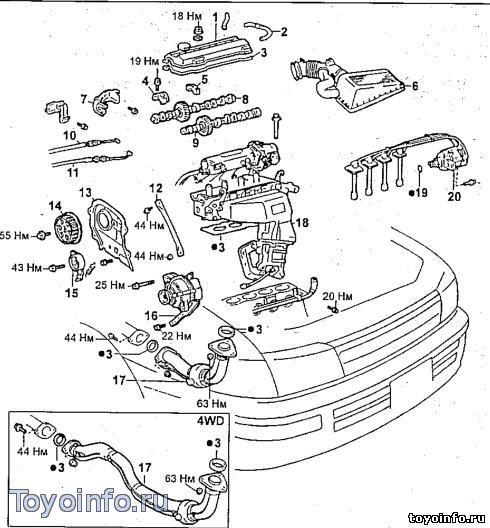 4s fe схема двигателя