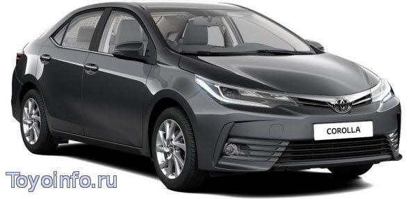 Точки подключения Toyota Corolla 2016