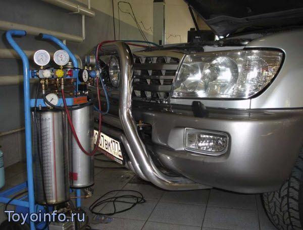 работа кондиционера Toyota