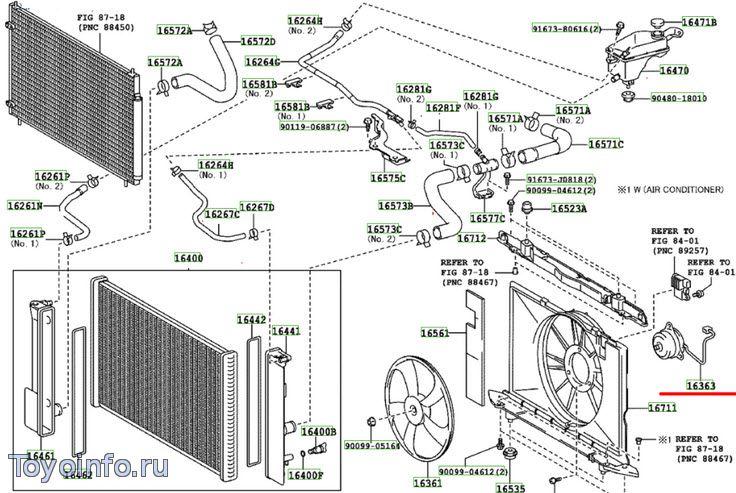 toyota rav4 система охлаждения