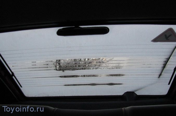 схема обогрева заднего стекла автомобиль таета королла