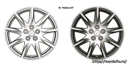 Легкосплавные колёсные диски Podium Toyota Motorsport