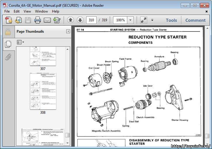 Обслуживание и ремонт 4A-GE