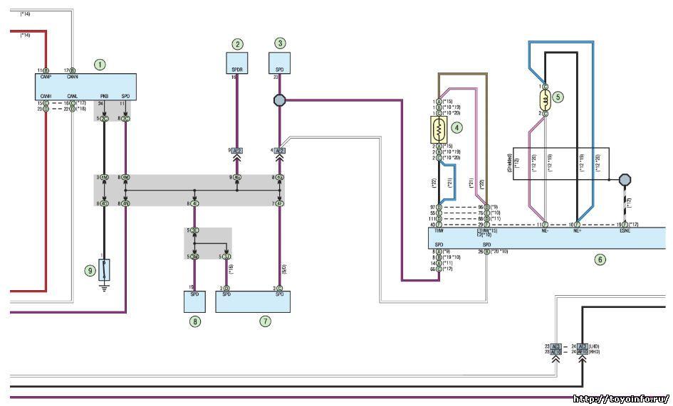 Электросхема тойота королла схема электрооборудования.