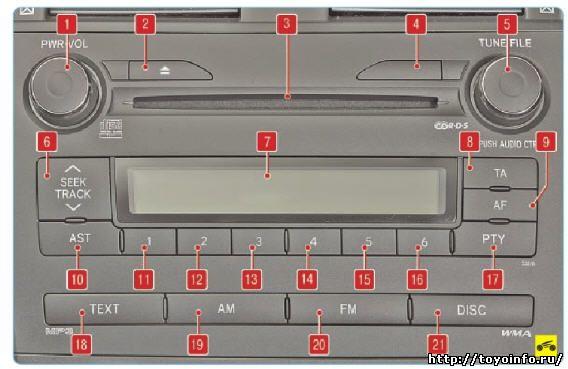 Головное устройство аудиосистемы Тойота Королла