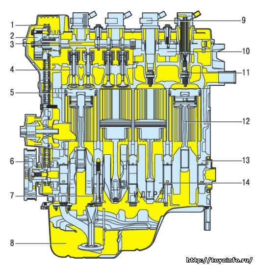 Тойота Королла двигатель