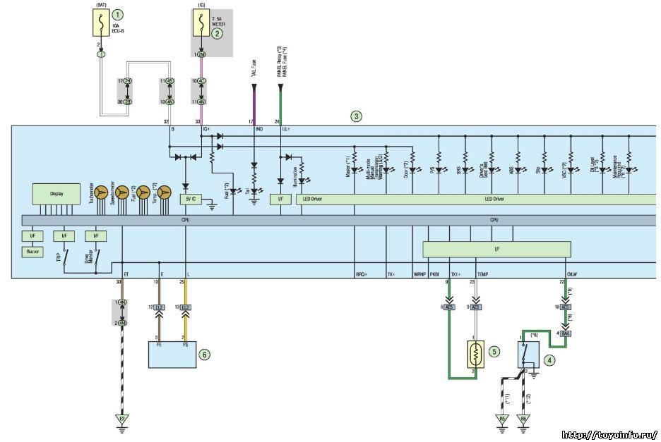Электрические схемы Тойота
