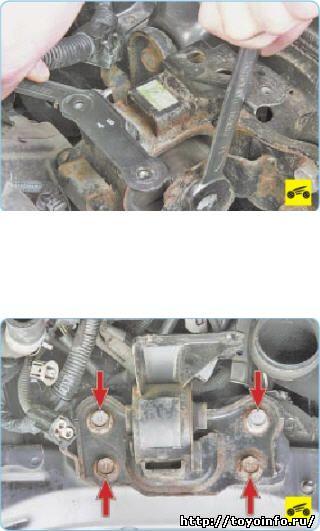 Замена левой опоры Двигателя
