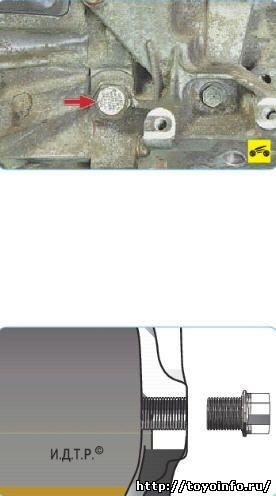 тойота аурис замена масла в роботе