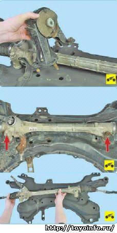 Замена рулевого механизма Тойота Королла