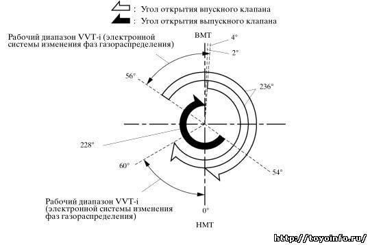 Фазы газораспределения 1MZ-FE