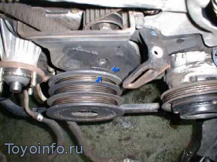 коленвал на двигателе Toyota 1G-GE