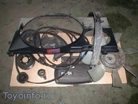 Части мотора, которые необходимо снять для замены ремня ГРМ