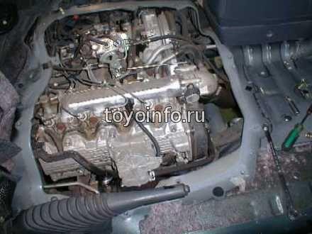двигатель типа 3C на Toyota Estima Emina .