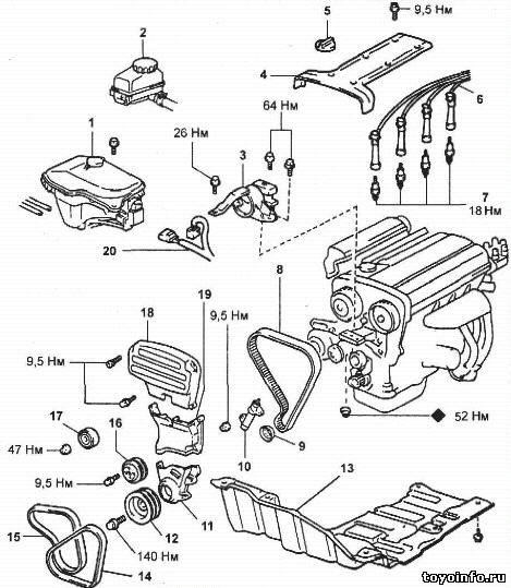 Схема двигатель 4a ge