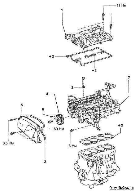 Головка блока цилиндров 3S-GTE