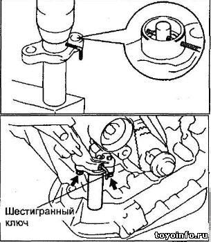 Снятие ремня ГРМ 1MZ-FE