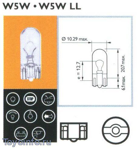 Лампа W3W, W5W
