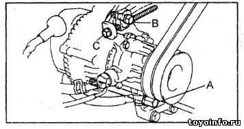Ремни привода навесных агрегатов 2L-TE, 2L-THE