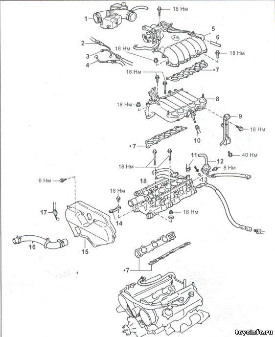 Головка блока цилиндров 5VZ-FE