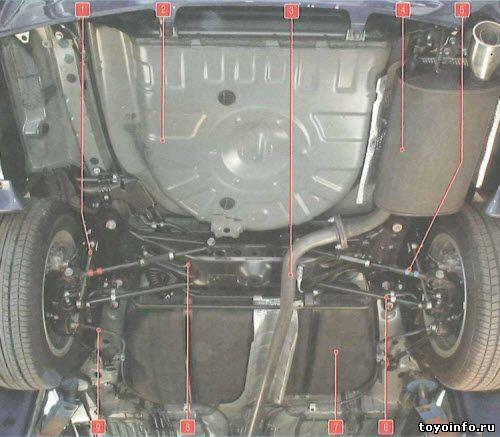 Задняя подвеска Тойота Камри