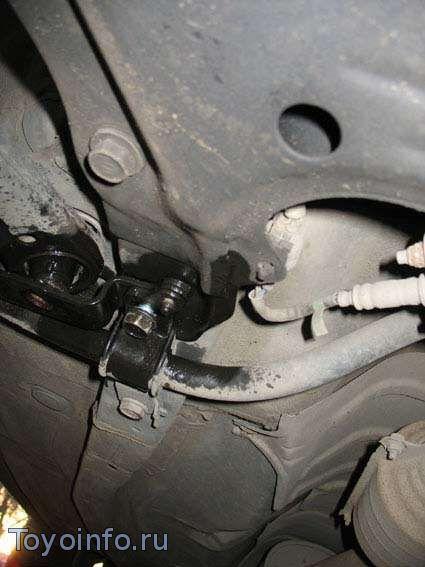 Замена заднего сайлент-блока toyota Corolla